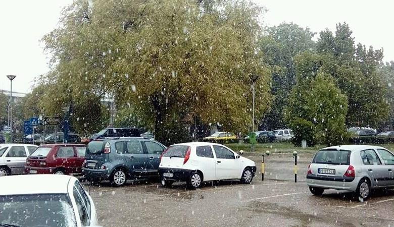 Photo of SNEG U APRILU: Aprilsko snežno jutro osvanulo u Velikom Gradištu! (VIDEO)