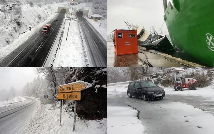 Photo of NEVREME ZAVEJALO REGION: Sneg paralisao Hrvatsku, u Crnoj Gori crveni alarm (VIDEO)