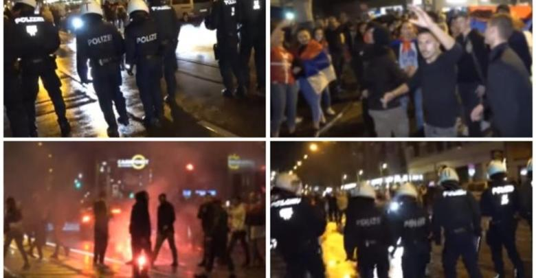 Photo of OPŠTI HAOS U BEČU: Posle utakmice sa Brazilom, Srbi se sukobili sa policijom, gađali ih pirotehničkim sredstvima i flašama! (VIDEO)