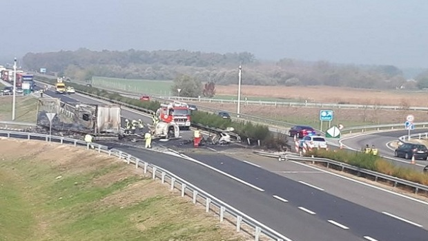 Photo of TEŠKA SAOBRAĆAJNA U MAĐARSKOJ: Sedam mrtvih u sudaru kamiona iz Srbije i dva vozila (VIDEO)