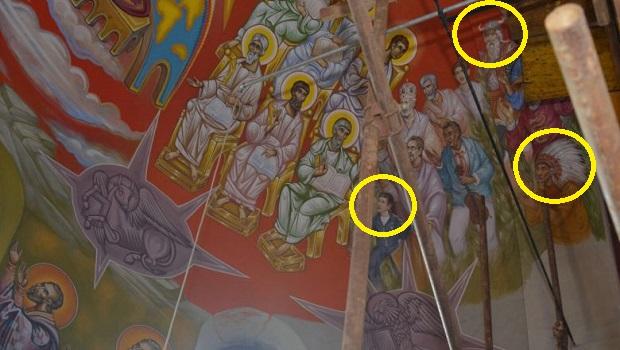Photo of SKANDAL U PETROVAČKOJ CRKVI! Indijanac, Kinez i Viking oslikani na fresci! (FOTO)