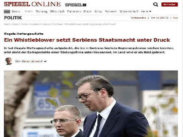 """Photo of NEMAČKI """"ŠPIGL"""": Uzbunjivač Obradović raskrinkao moćnu srpsku """"državnu mafiju"""""""