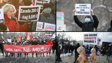 Photo of POREZ DA, PLJAČKA NE: Hiljade frilensera maršira Beogradom (VIDEO)
