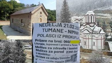 Photo of KONKURENCIJA VRAČARAMA: Hoćete u manastir Tumane ili Nimnik da vam čitaju molitve protiv crne magije?! (FOTO)