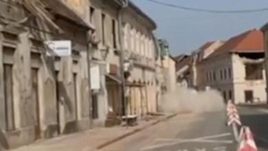 Photo of SVE SE TRESLO: Snažan zemljotres opet pogodio Hrvatsku, srušio se deo zgrade (VIDEO)