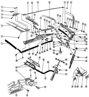 196769 Firebird Convertible Top Illustrated Parts Break Down