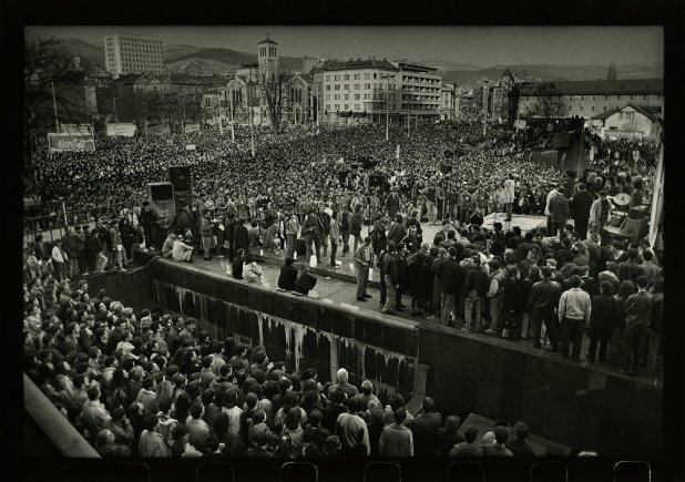 Manifestacija za mir u Sarajevu prije rata