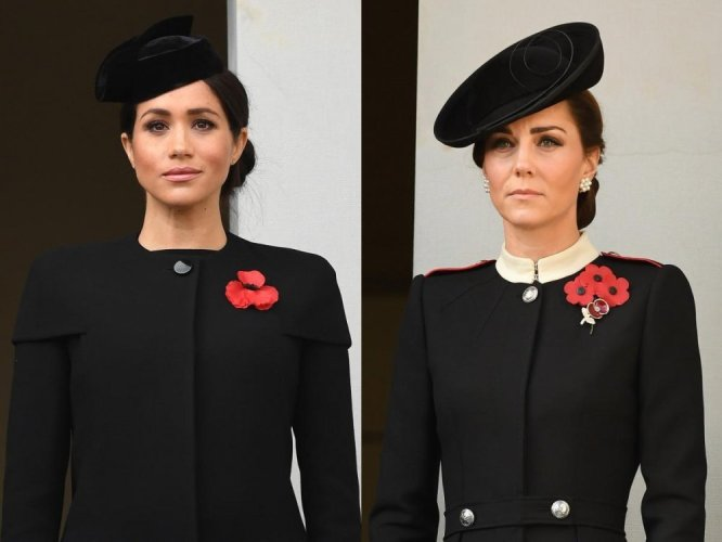 Image result for meghan and kate 11.11.2018