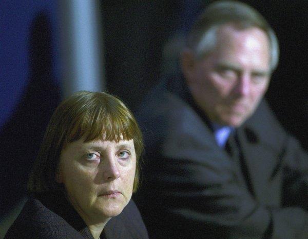 Wolfgang Schäuble i Angela Merkel - 2000.