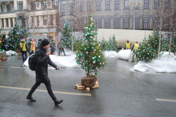 Kraj 2017. u Rusiji su označile niže temperature od uobičajenih pa su dekorateri imali posla s osmišljavanjem zimske idile