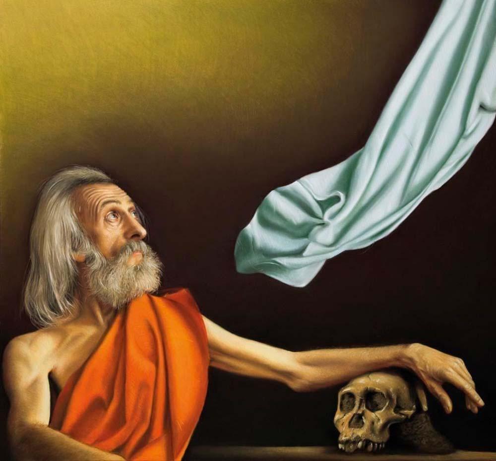 Krzysztof Izdebski-Cruz - A Neanderthal Skull or St. Hieronymus