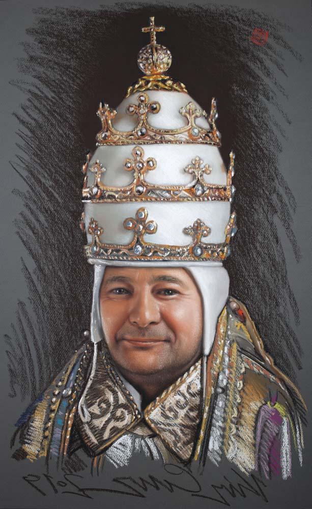 Krzysztof Izdebski-Cruz - Study of the Head of Saint Gregory the Great