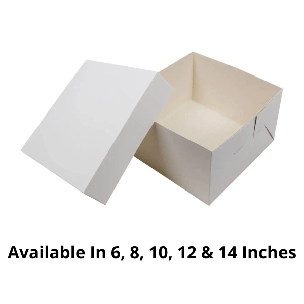 Customized Cake Boxes Without Window - 500 Pieces