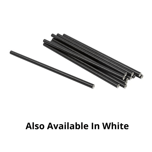 Plain Paper Straws - 100 Pieces