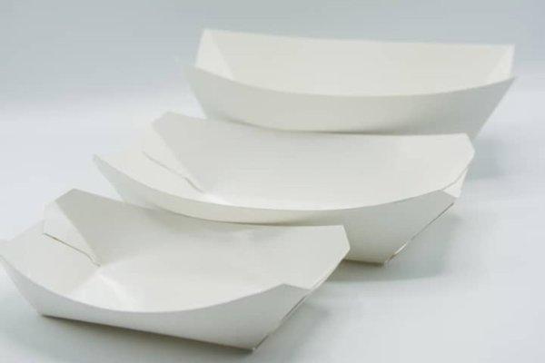 Plain Boat Trays - 100 Pieces
