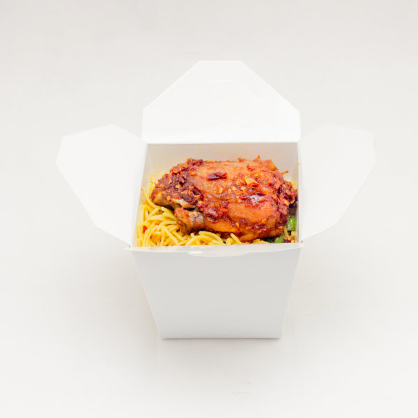 Plain Chinese Food Boxes - 100 Pieces