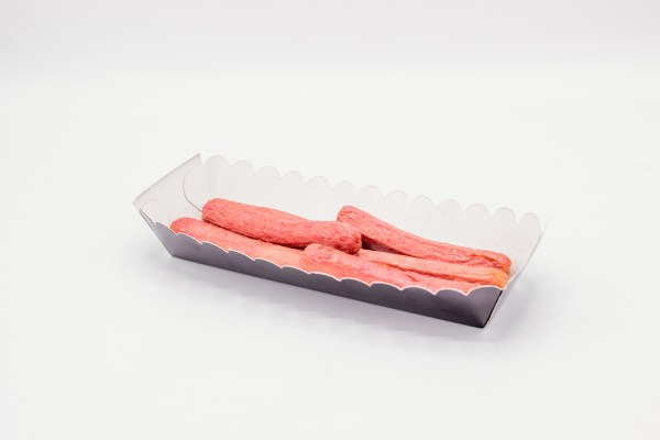 Plain Hot Dog Trays - 100 Pieces