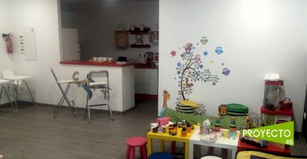 Interior del local con la reforma terminada