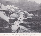 Looking West down Main Street Crotty circa 1902