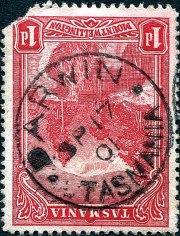 Darwin Type 1 circular date stamp