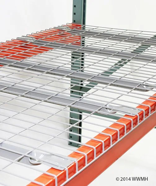30 d x 46 w wire mesh deck 2500 lbs capacity flared support