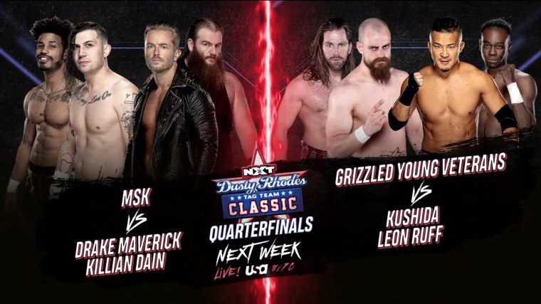 Updated Dusty Classic Matches, Next Week's Card – TPWW