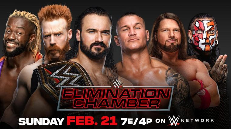 Updated WWE Elimination Chamber Card – TPWW