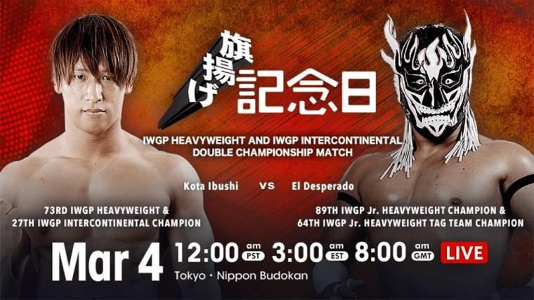 NJPW 49th Anniversary Event Results – March 4, 2021 – Kota Ibushi vs. El Desperado – TPWW