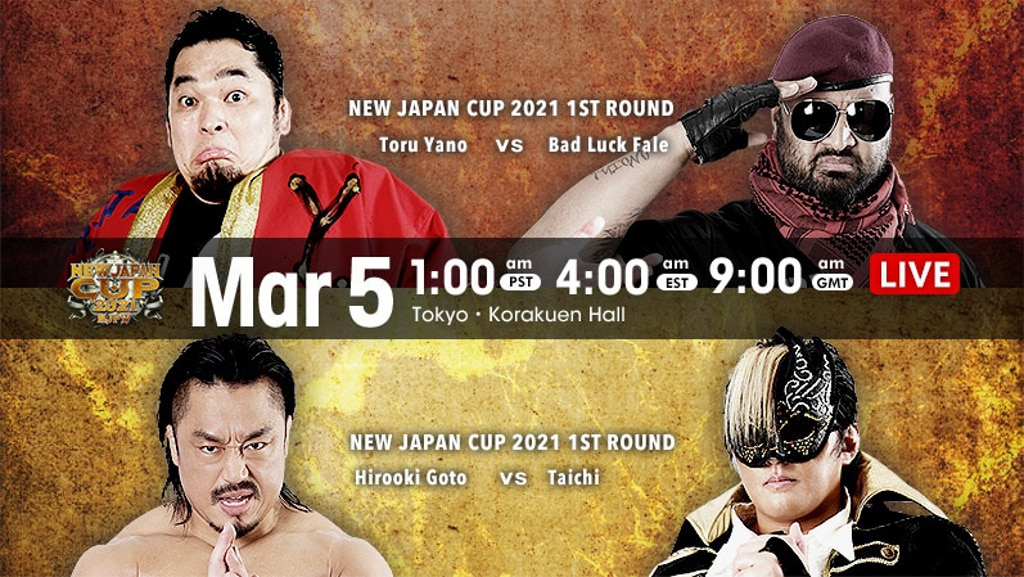 NJPW New Japan Cup 2021 Night 1 Results & Night 2 Card, Friday's NJPW Strong Card, Indies – TPWW