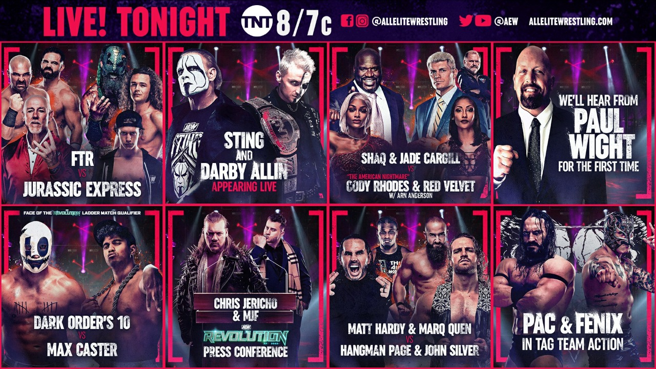 AEW Dynamite & NXT Cards for Tonight – TPWW