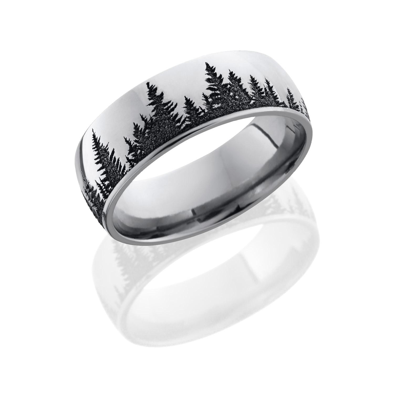 Lashbrook CC8D LCVPINES POLISH Cobalt Chrome Wedding Ring