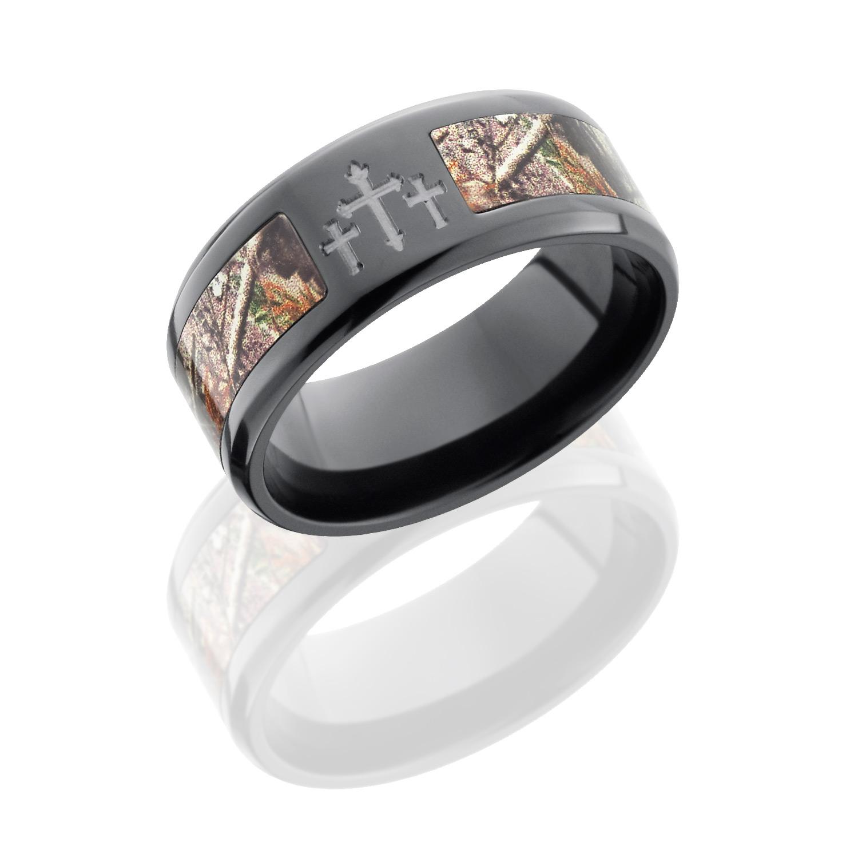 Lashbrook ZCAMO9B15SEG 3XRTAP POLISH Camo Wedding Ring Or