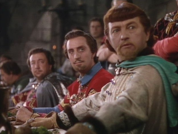 "Claude Rains as Prince John: ""By my faith, but you're a bold rascal . . . """