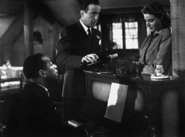 "Dooley Wilson, Humphrey Bogart, Ingrid Bergman:  ""Moonlight & love songs, never out of date."""