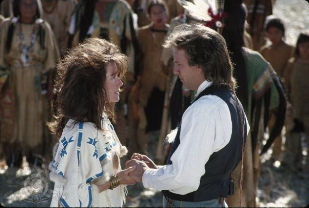 Mary McDonnell, Kevin Costner:  Nice barber they've got out here on the prairie.