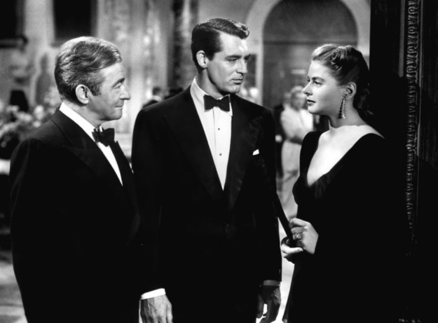 Rains, Grant, Bergman:  'We both invited you, Mr Devlin.'