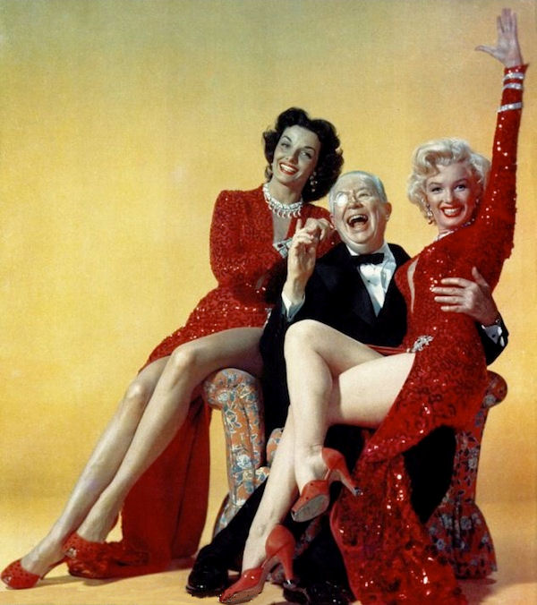 Jane Russell, Charles Coburn, Marilyn Monroe in a publicity shot for 'Gentlemen Prefer Blondes.'
