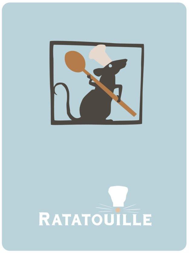 Minimalist 'Ratatouille' poster.