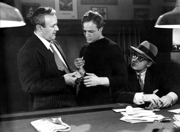 Lee Cobb, Brando, SteigerIrish stoolie, union Jews.