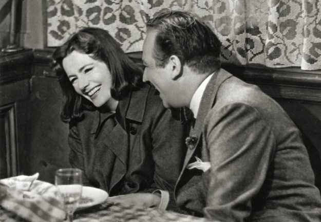 Garbo Laughs! Melvyn Douglas hands Comrade Garbo a laugh in 'Ninotchka.'