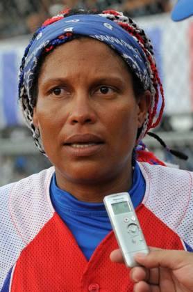 Yanitza Avilés, integrante de la selección femenina de sóftbol. Foto: José Raúl Rodríguez Robleda