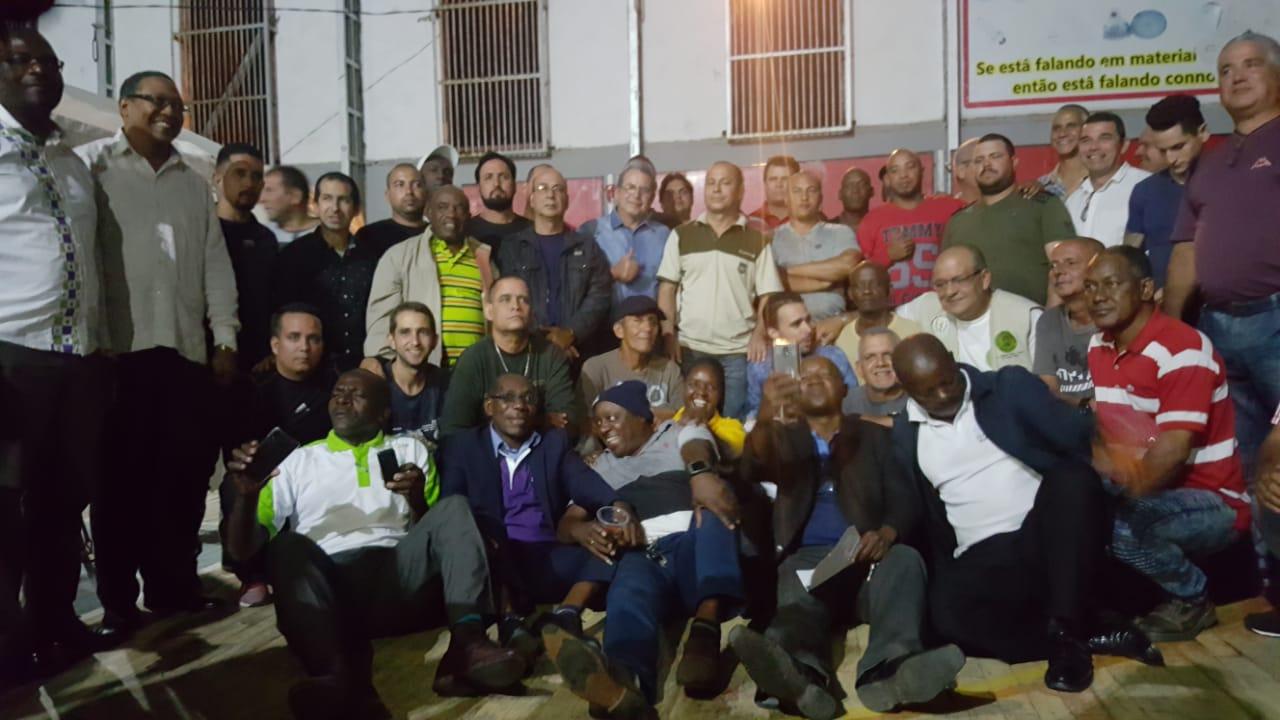El destacamento respondió con celeridad a una de las mayores crisis de la historia reciente de Mozambique. La imagen fue tomada en el acto de despedida de la Brigada Henry Reeve, en Beira. Foto cortesía de la Embajada de Cuba en Mozambique.