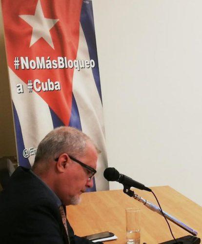 Cuba condenó ante la Junta Ejecutiva del PMA el bloqueo que le impone Estados Unidos desde hace seis décadas, y su recrudecimiento en los últimos años por el Gobierno de Donald Trump. Foto: Tomada de CubaMINREX