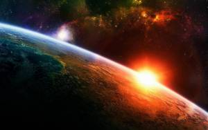 Una increíble vista de un planeta con su estrella.