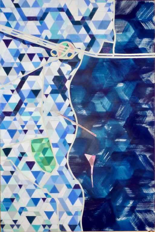 alexandria 2 /// 100X150cm dry pastel on mounted paper © Bruno Rossi dessinateur/ designer Paris 2008 2012