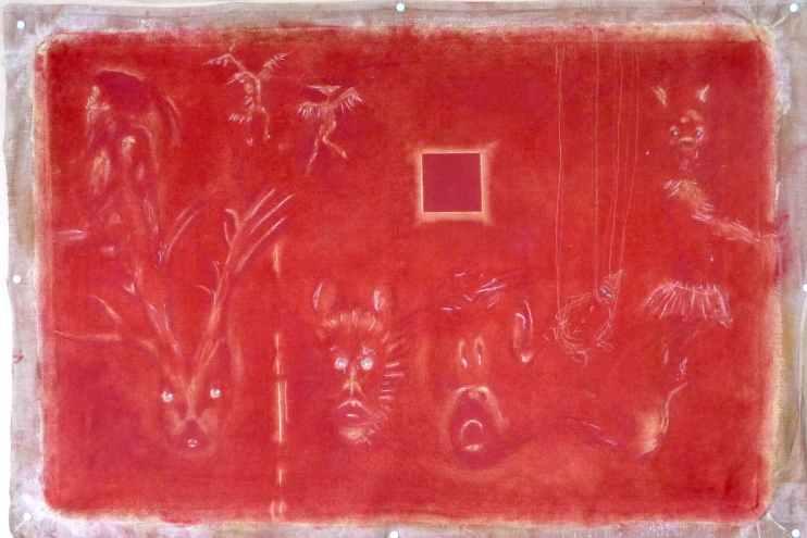 minihell /// 92X60cm pigments on canvas © Bruno Rossi dessinateur/ designer Paris 2008 2012