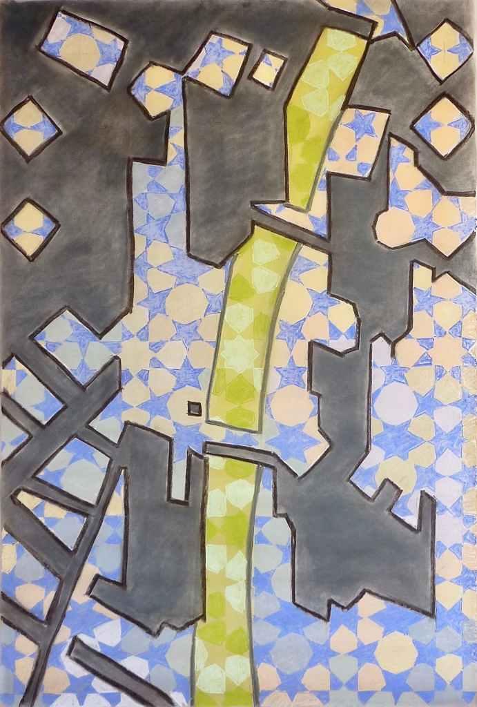 g0/// 100X150cm dry pastel on tracing paper Bruno Rossi artiste peintre plasticien Paris 2008 2012