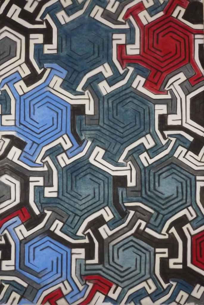 // 100X150cm dry pastel on tracing paper Bruno Rossi artiste peintre plasticien Paris 2008 2012