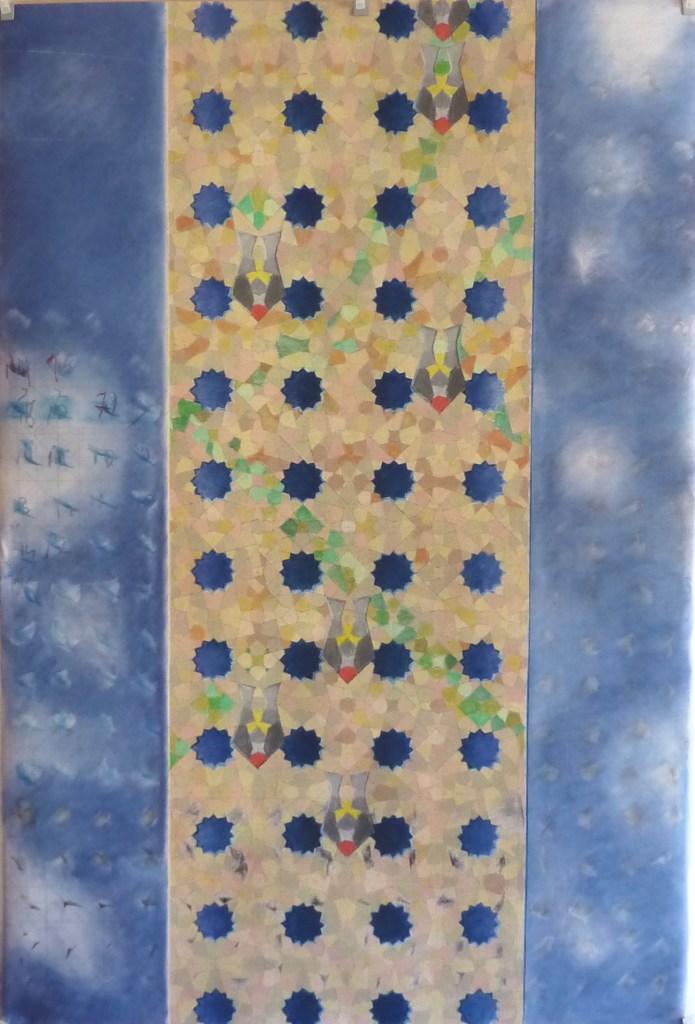 j...vu du ciel /// 150X100cm mix media on mounted paper Bruno Rossi artiste peintre Neuchâtel 2012 2019