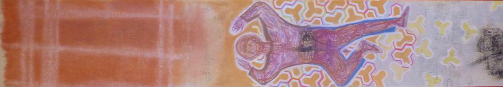 sdf...my god/// 1200cmX120cm dry pastel on paper roll Bruno Rossi artiste peintre plasticien Paris 2008 2012